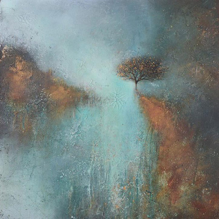 An abstract landscape image by featured artist Kate Richardson