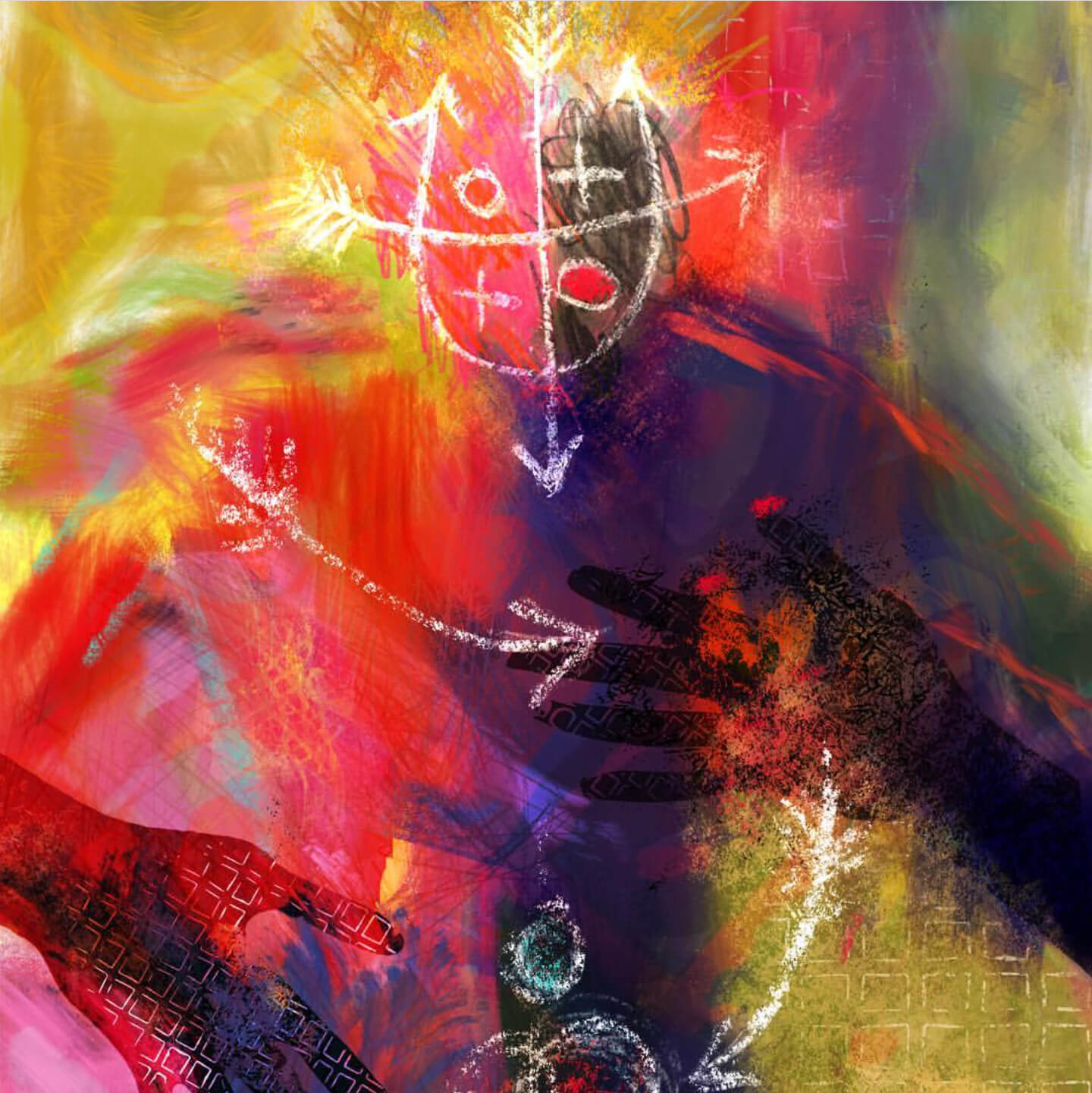 A painterly, expressionistic image by featured artist, Barbara Braman