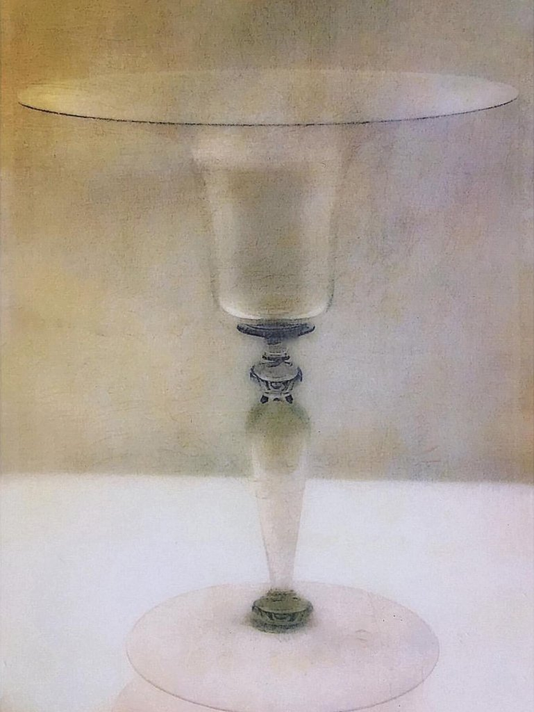 A painterly image of a goblet by featured artist, Ollie