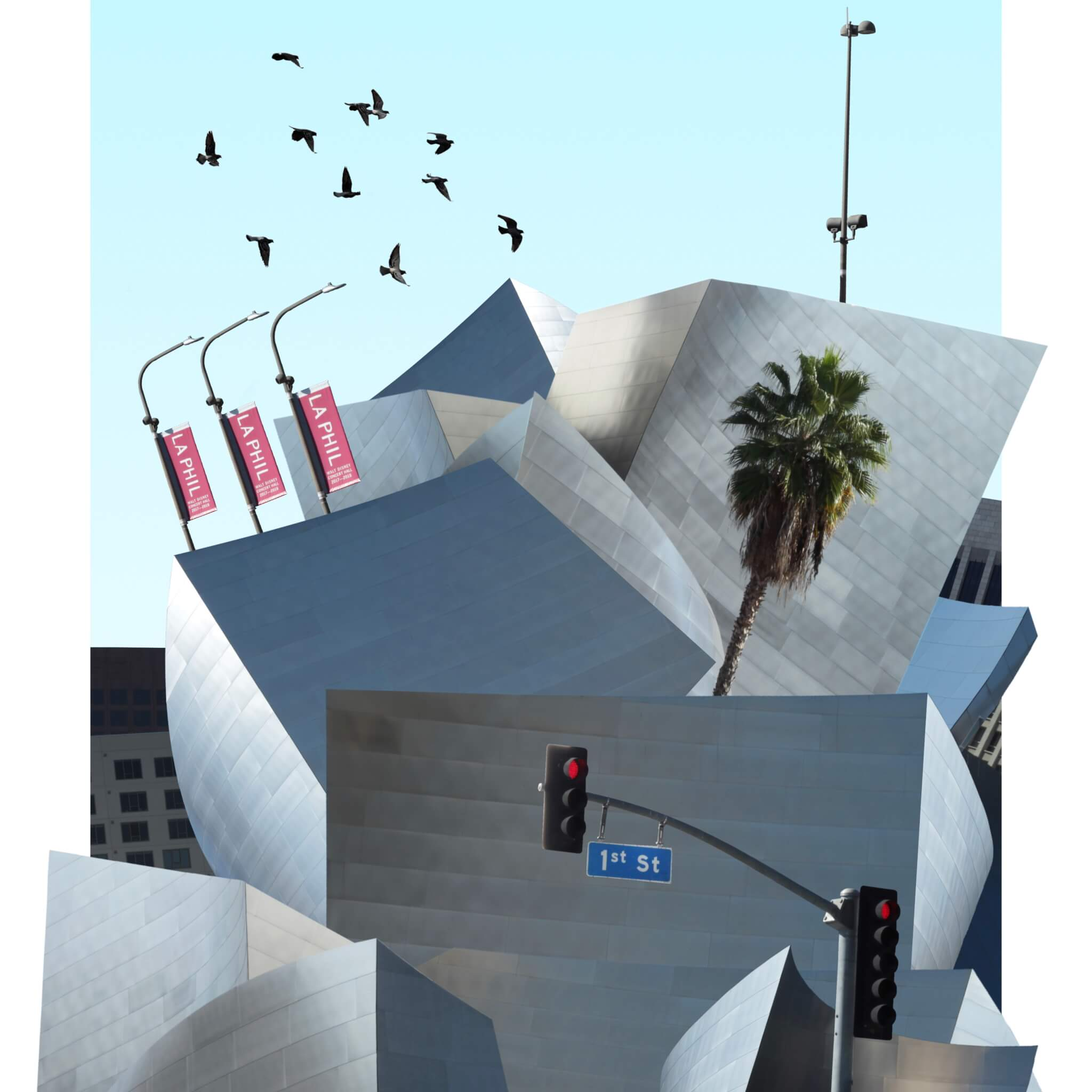 An architectural mash-up image by digital artist Jorge Cabrera