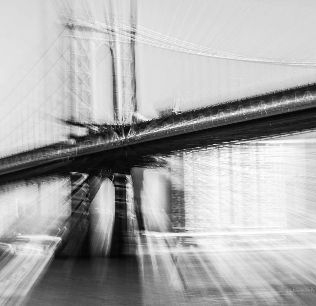 Abstract architecture photo art of the Brooklyn Bridge