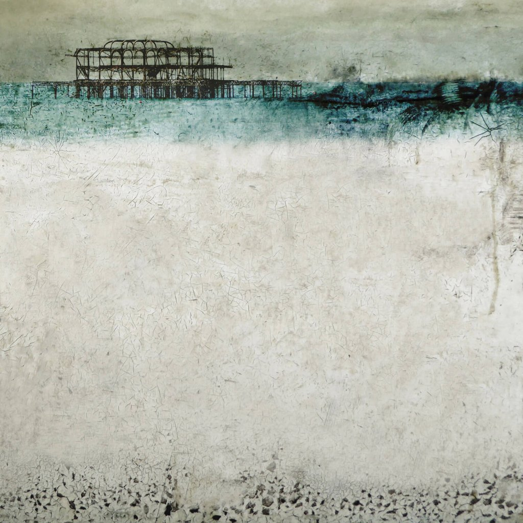 A stylised photomontage of Brighton's derelict West Pier