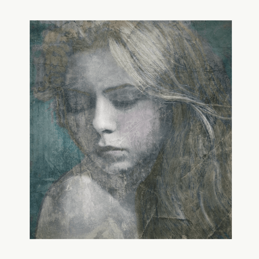 A digital portrait of a young girl by Joyce Campbell