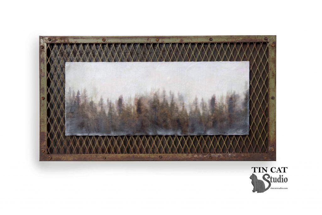 An example of textured landscape with bespoke handmade frame